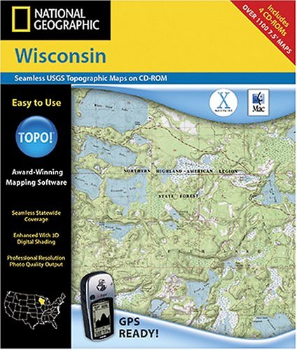 National Geographic TOPO Map of Wisconsin (Mac)