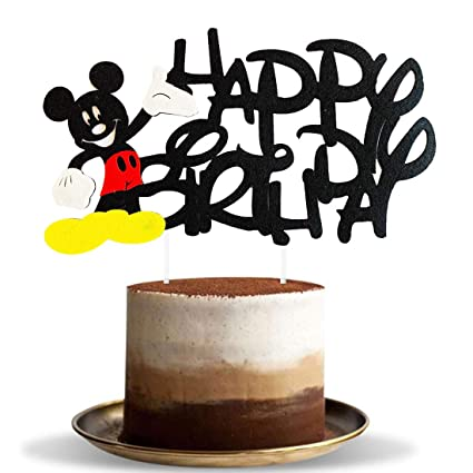 Admirable Hongkai Mickey Mouse Happy Birthday Cake Cupcake Toppers Picks For Funny Birthday Cards Online Inifofree Goldxyz