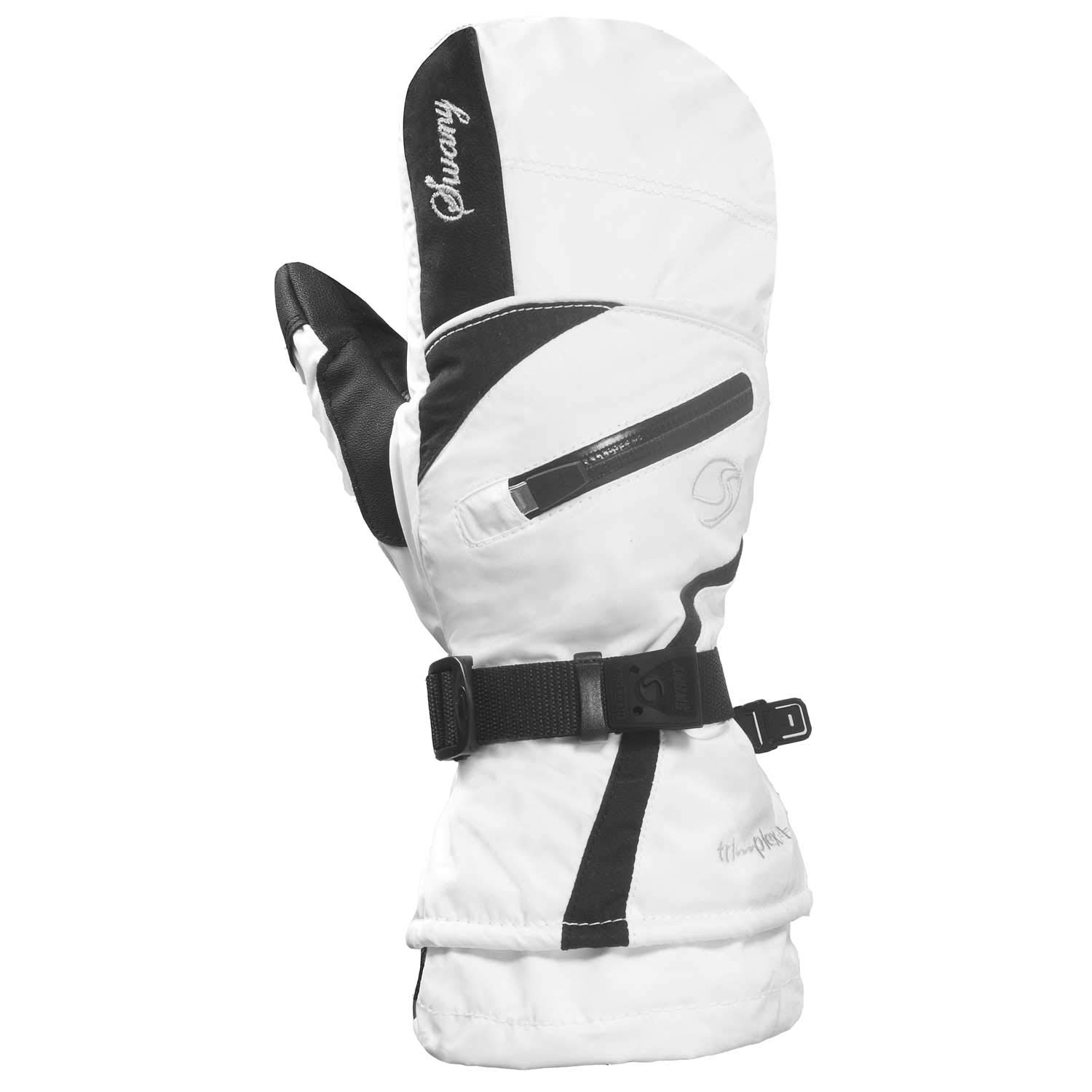 Swany Womens X-Therm Warm Insulated Mitten, White/Black, Large