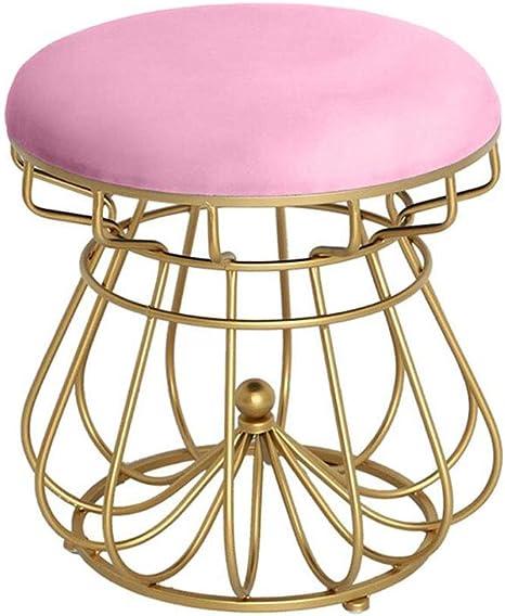 Jyfk Fusshocker Goddess Vanity Stool Makeup Bench Footstools Thick Padded Chair Piano Seat Bathroom Bedroom Large Vanity Benches Gold Iron Frame 2 Colours Amazon De Kuche Haushalt