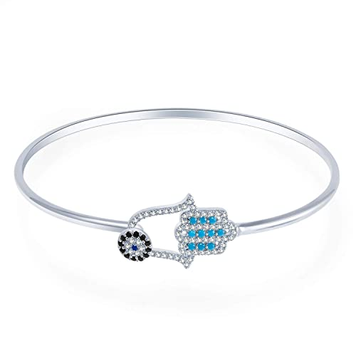 Bracelets Sensible Fashion Women Lady Silver Plated Crystal Bangle Love Heart Charm Bracelet Gl Available In Various Designs And Specifications For Your Selection