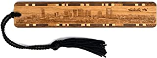 product image for Nashville, Tennessee Skyline - Engraved Wooden Bookmark with Tassel - Also Available Personalized