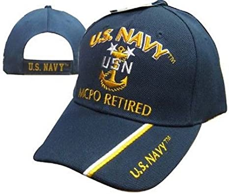 e7d0da19c62ee Amazon.com  AES U.S. Navy CPO Retired USN Ball Cap Hat Embroidered ...