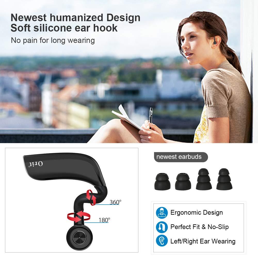 Bluetooth Headset Bluetooth Kabellos Kopfh/örer Sport Freisprech Headset mit Mikrofon In Ear Einohr Ohrh/örer Rauschunterdr/ückung Funk-Kopfh/örer 25 Stunden Gespr/ächszeit Eleganten Business Stil