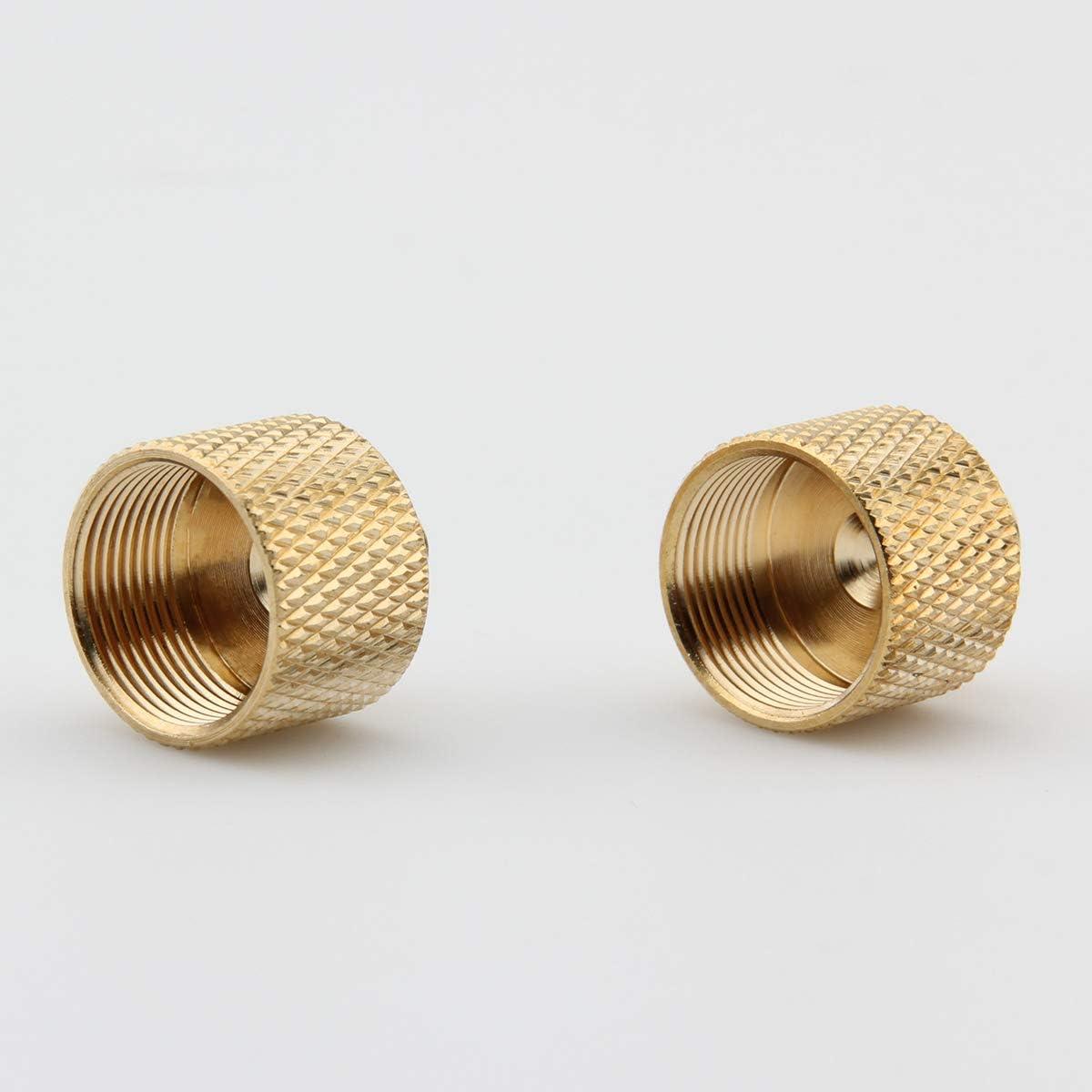 XINJUE 2 Pieces, tripod screw adapter converter stand screw. 3//8-16 External thread brass 5//8-27 internal thread adapter for microphone stand to
