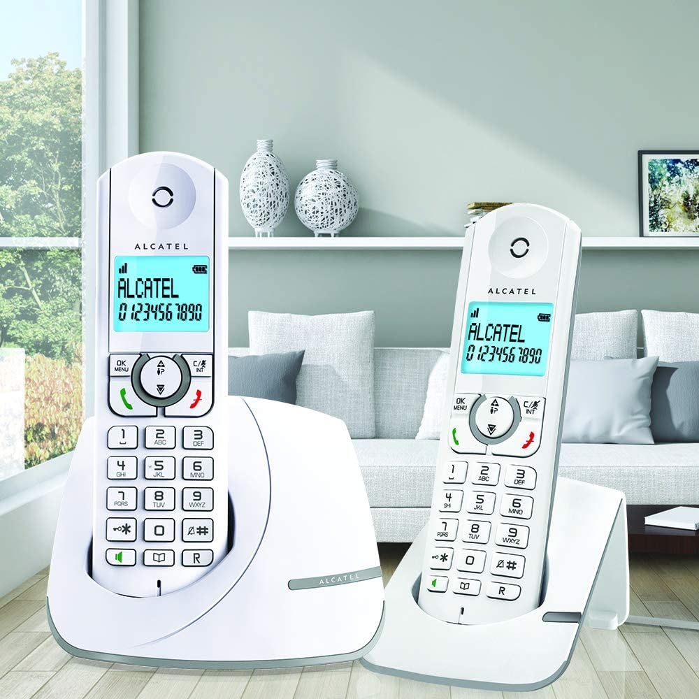 Alcatel F390 Duo - Teléfono inalámbrico DECT: Amazon.es: Electrónica