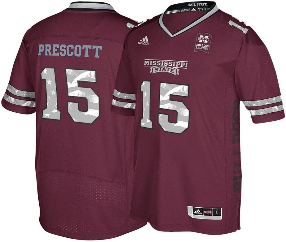 Dak Prescott Mississippi State Bulldogs NCAA Maroon Special Games Premier Jersey