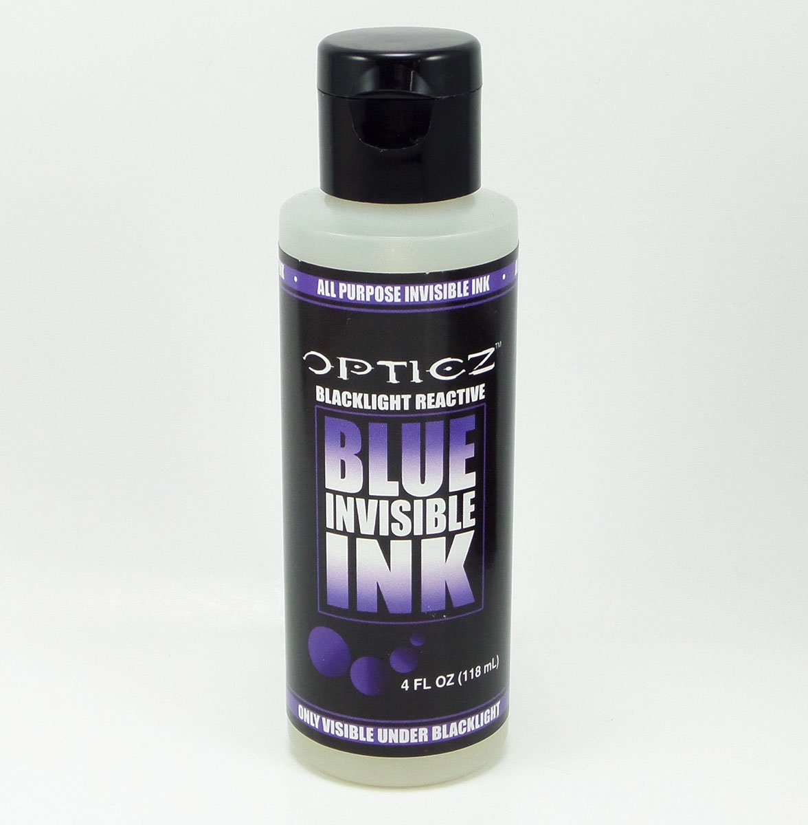 Opticz All Purpose Invisible Blue UV Blacklight Reactive Ink (4 Ounce Bottle) by Opticz (Image #3)