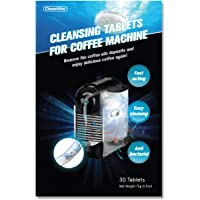 CleanHike Espresso Machine Cleaning Tablets - Descaler Coffee Maker Cleaner (30 Tablets), FDA Approved, Work on Blender (1)