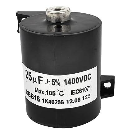 CBB16 DC 1400 V 25 uf 5% rueda condensador para soldador eléctrico