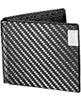 Common Fibers Mens Max Real Carbon Fiber Bifold Wallet with RFID Credit Card Protection