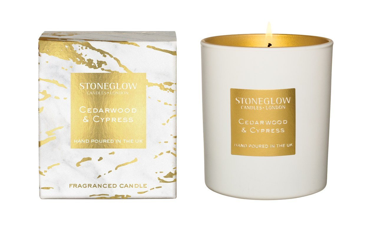 Stoneglow Candle Luna Collection Cedarwood & Cypress Tumbler