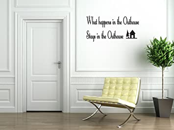 Outhouse Bathroom Vinyl Wall Decal Quotes Wall Stickers Bathroom Decals  Home Decor Decals