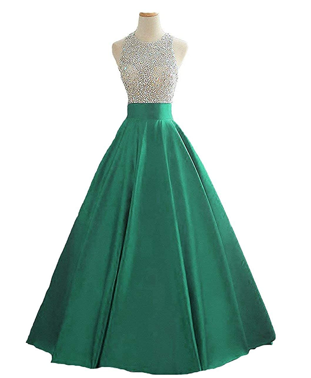 Green 2 Dressytailor Hater Aline Long Sequined Evening Party Gown Beaded Formal Prom Dress with Pockets