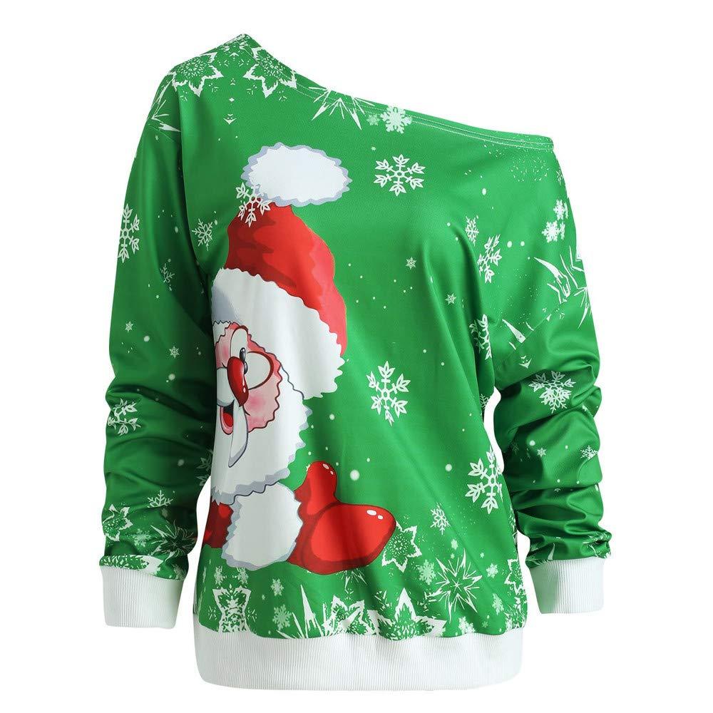 OSYARD Christmas T-Shirt Oberseiten Pullover Sweatshirt Damen, Mode ...