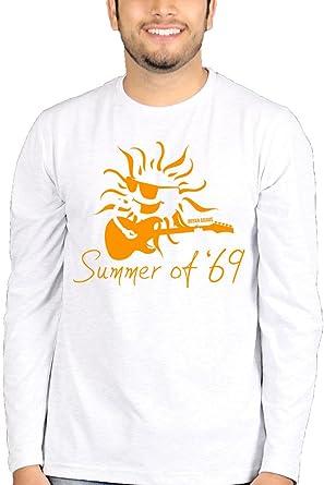 277b8aba9ba5 The Banyan Tee Summer of  69 Bryan Adams Full Sleeves Tshirt - Band Tshirts   Amazon.in  Clothing   Accessories