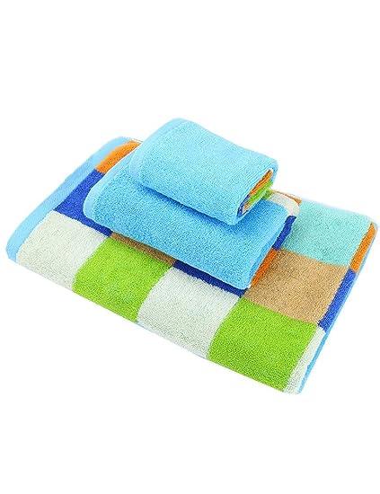 Toalla de algodón Simple Absorbente Grandes Toallas Suaves algodón Hombres Adultos y Mujeres Toalla de baño