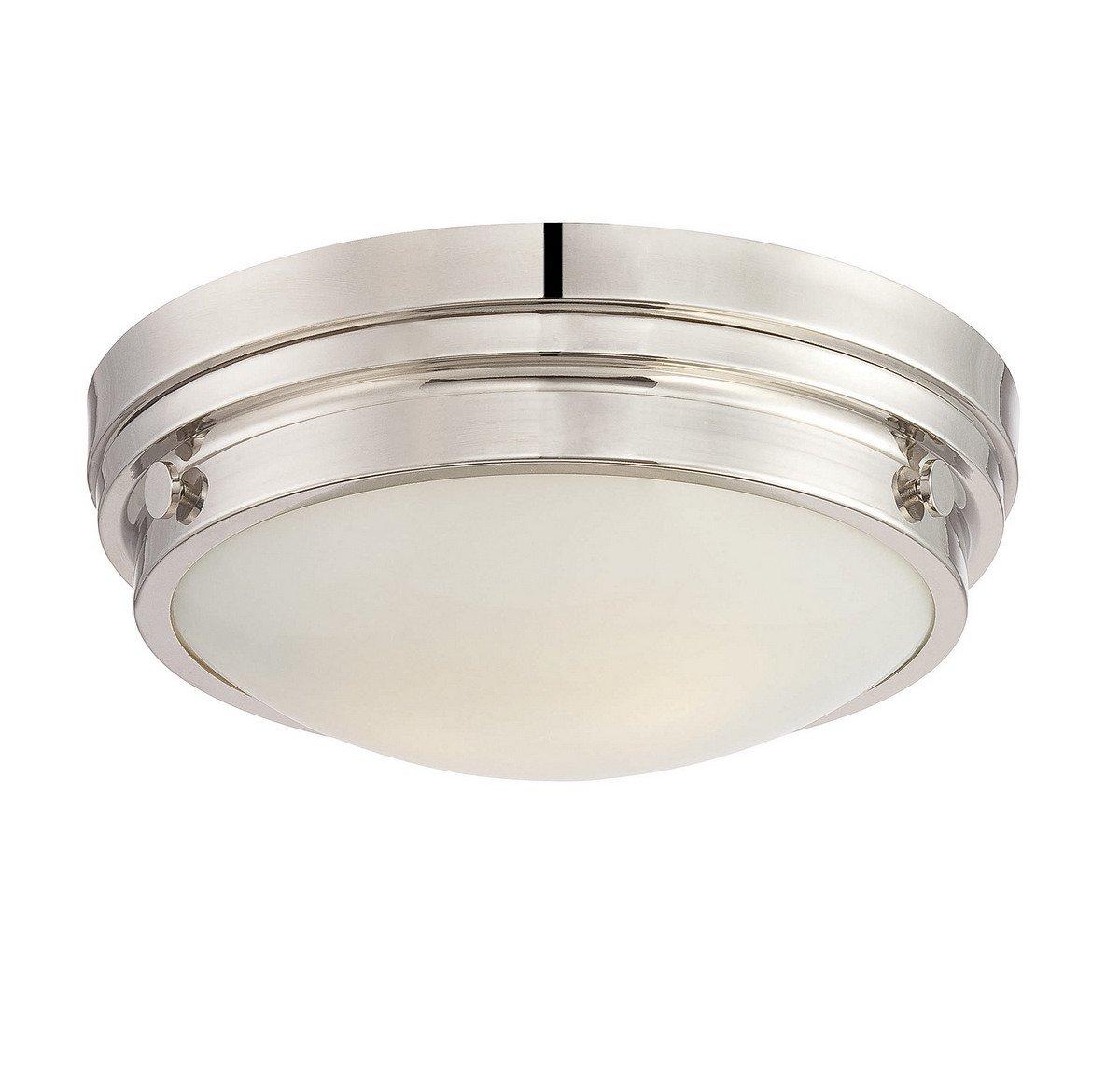 Savoy House 6-3350-14-109 Lucerne 2-Light Flush Mount in Polished Nickel