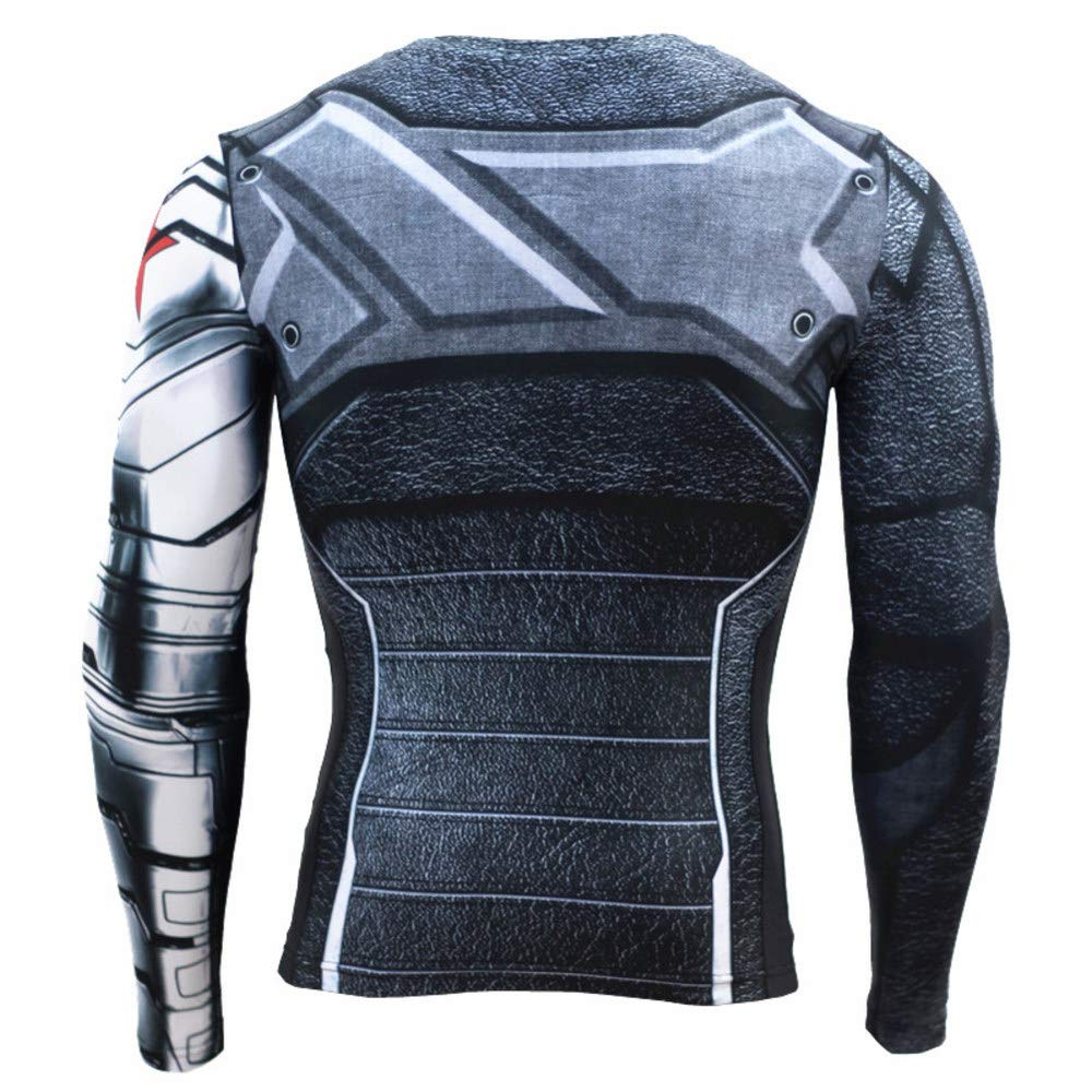 Long Sleeve Winter Soldier Dri-fit Compression Shirt Long Sleeve Gym Shirt