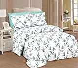 Beverly Hills 1800 Series Ultra Soft Printed 6PC Sheet Set (Full, Laurel)