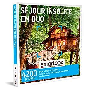 Smartbox – Coffret Cadeau Couple – Séjour Insolite en Duo – idée Cadeau – 1 Nuit avec Petit-déjeuner pour 2 Personnes