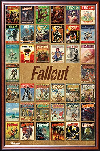 FRAMED Fallout Video Game - Live And Love - Guns And Bullets