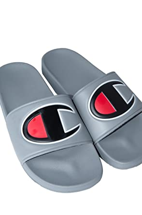 aeb9d80db43 Image Unavailable. CHAMPION Mens Ipo Big C Logo Pool Slide Sandal-GREY  GREY 9