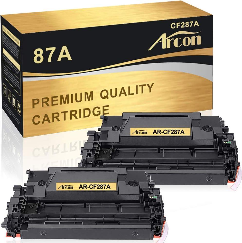 Arcon Compatible Toner Cartridge Replacement for HP 87A CF287A 87X HP laserjet M506 M506n M506dn LaserJet Enterprise M506dn M506X M506 Laserjet MFP M527Dn M527Z M527F Laserjet Pro M501dn M501-2 Packs