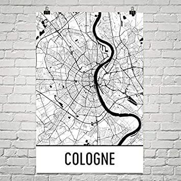 Köln Karte Deutschland.Köln Karte Köln Kunst Köln Print Köln Poster Köln Wall Art