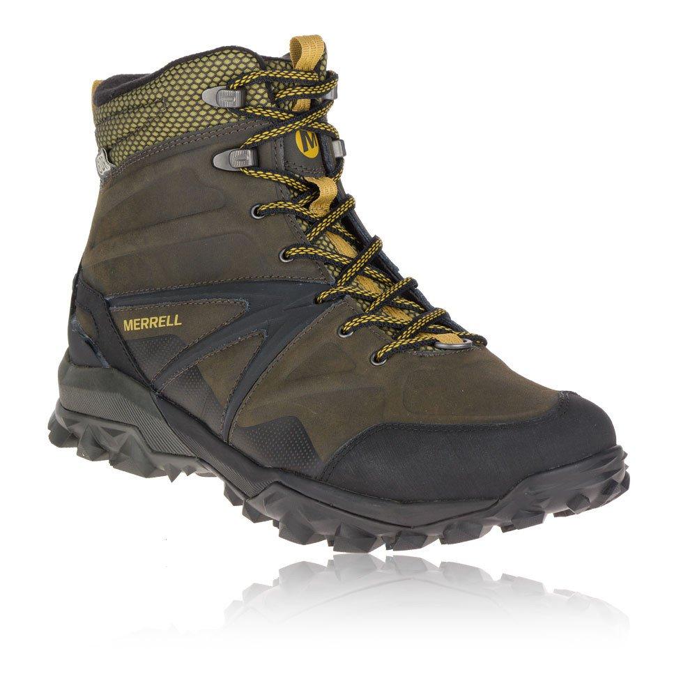 Merrell Herren Capra Glacial Ice+ Mid Waterproof Trekking-Wanderstiefel, Schwarz  40 EU Brown