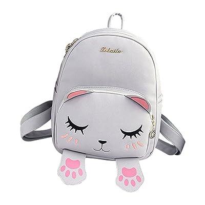 81326cd14a6 durable modeling Muzuri PU Leather Girls Women s Fashion Backpack Cute Cat  Crossbody Bag Shoulder Bag Tote