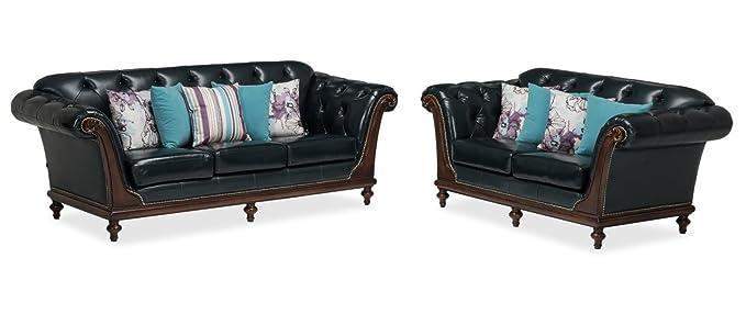 Durian Noel Six Seater Sofa (Prussian Blue)