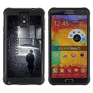 """Hypernova Defender Series TPU protection Cas Case Coque pour SAMSUNG Galaxy Note 3 III / N9000 / N9005 [Muchacha del paraguas de la calle Significado Profundo""""]"""