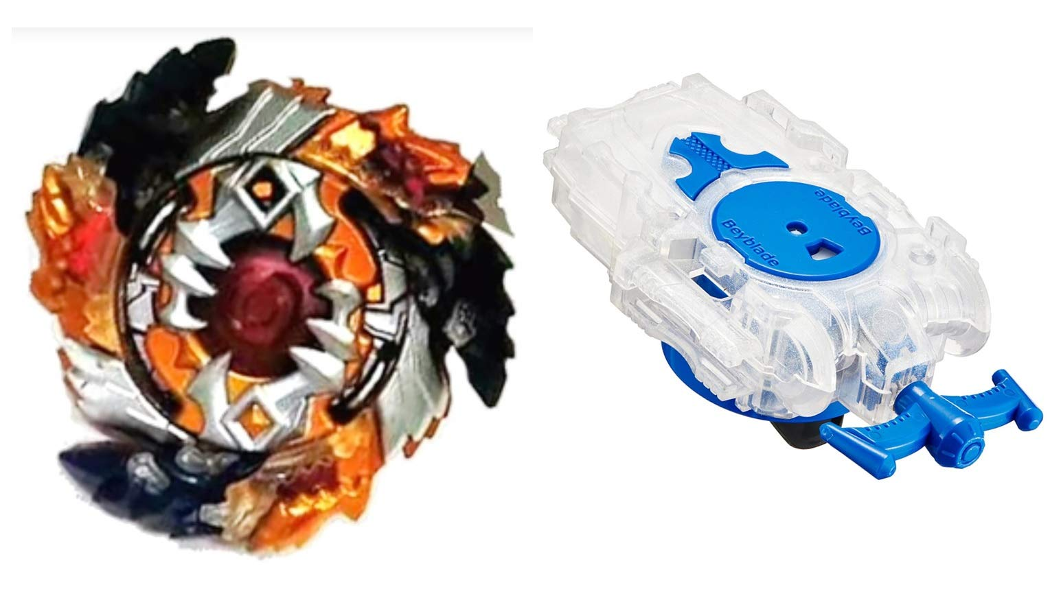 [B-122 Value Set] Beyblade Burst B-122 Starter Geist Fafnir .8'.Ab + B-99 Bay Launcher L Clear White [Japan Import]