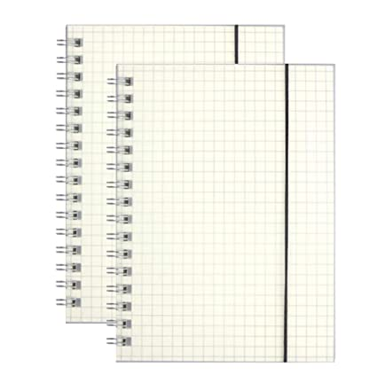 Amazon com : Frosted and Transparent Hardcover B5/A5/A6 Square Grid