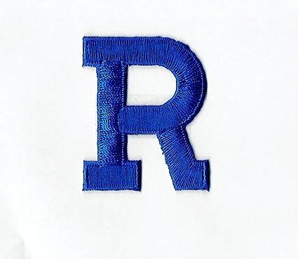 Amazon Com Alphabet Letter R Color Royal Blue 2 Block Style