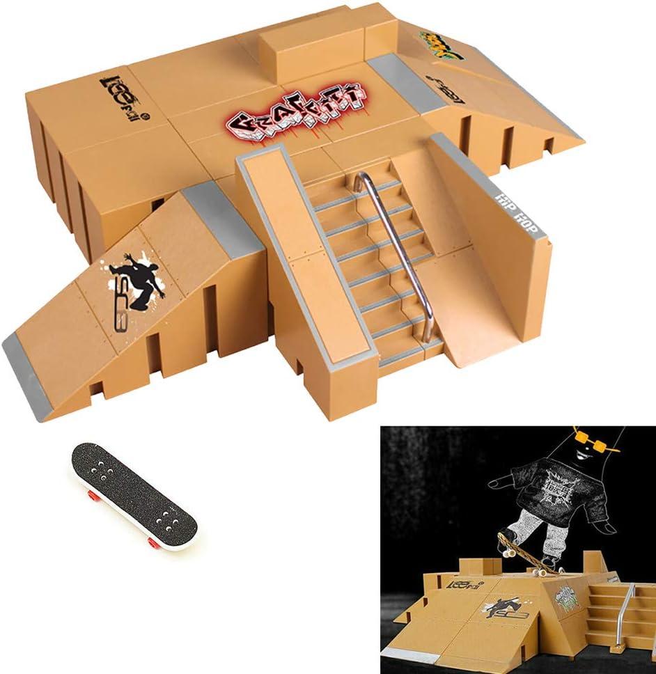 pi/èces de rampe de parc de skateboard pour les accessoires ultimes de formation de parcs de planche /à roulettes de doigt ouet de conseil de doigt mini parcs de planches /à roulettes de doigt avec