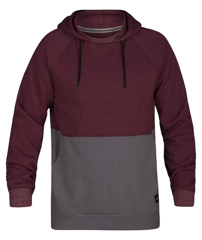 Hurley Mens Crone Marled Textured Pullover Hoodie