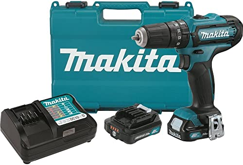 Makita PH04R1 12V Max CXT Lithium-Ion Cordless Hammer Driver-Drill Kit, 3 8