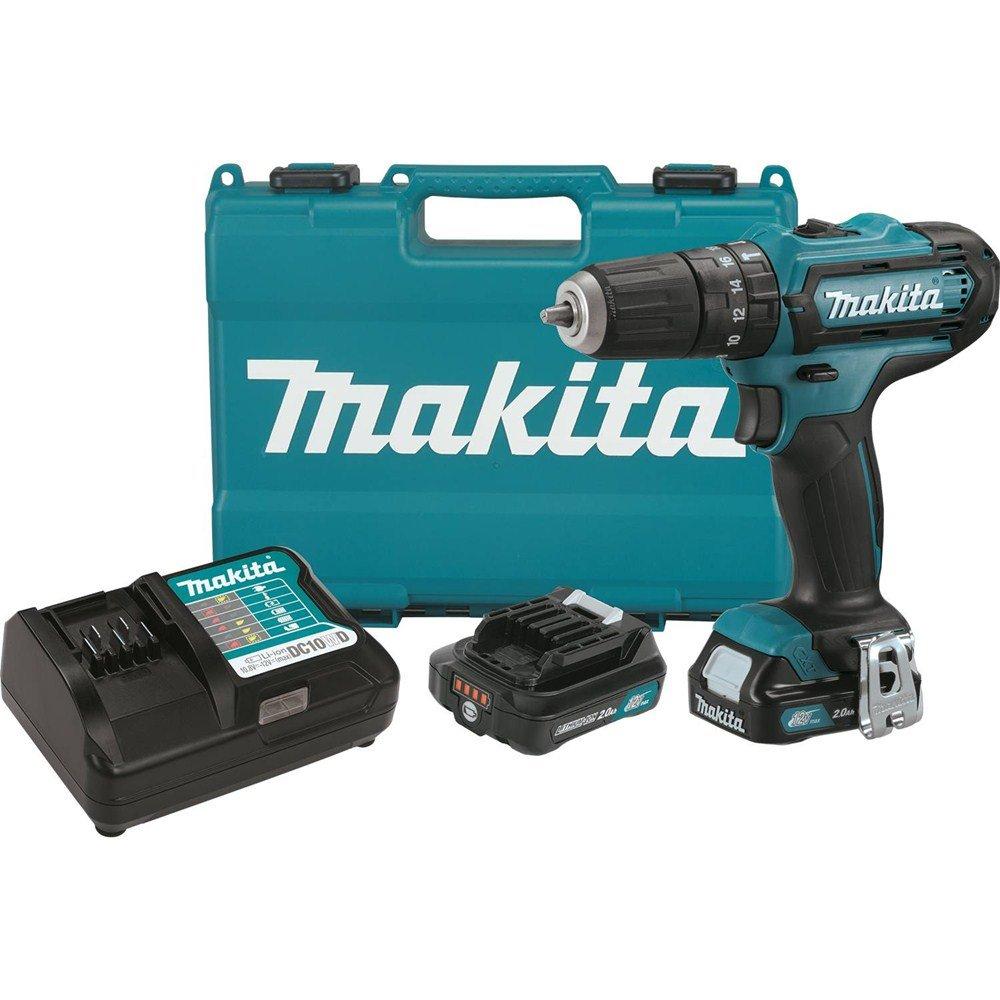 Makita PH04R1 12V Max CXT Lithium-Ion Cordless Hammer Driver-Drill Kit, 3 8