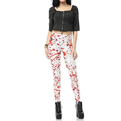 AICHESON Ugly Holiday Leggings Womens High Waist Pants 3D Print Paddy Pants at Women's Clothing store
