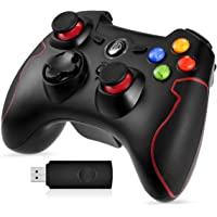 EasySMX 2.4G Wireless Controller for PS3, PC Gamepads with Vibration Fire Button Range up to 10m Support PC,Laptop…