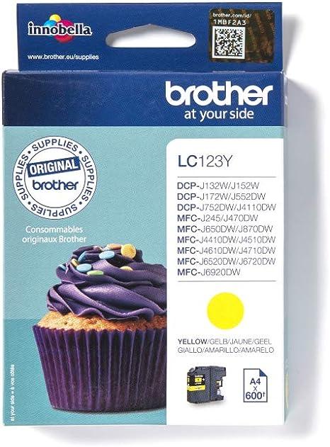 Brother Lc 123y Ink Cartridge Yellow Lc 123y Bürobedarf Schreibwaren