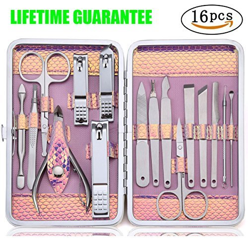 Keiby Citom Manicure Pedicure Set Nail Clipper Grooming Kit Professional...