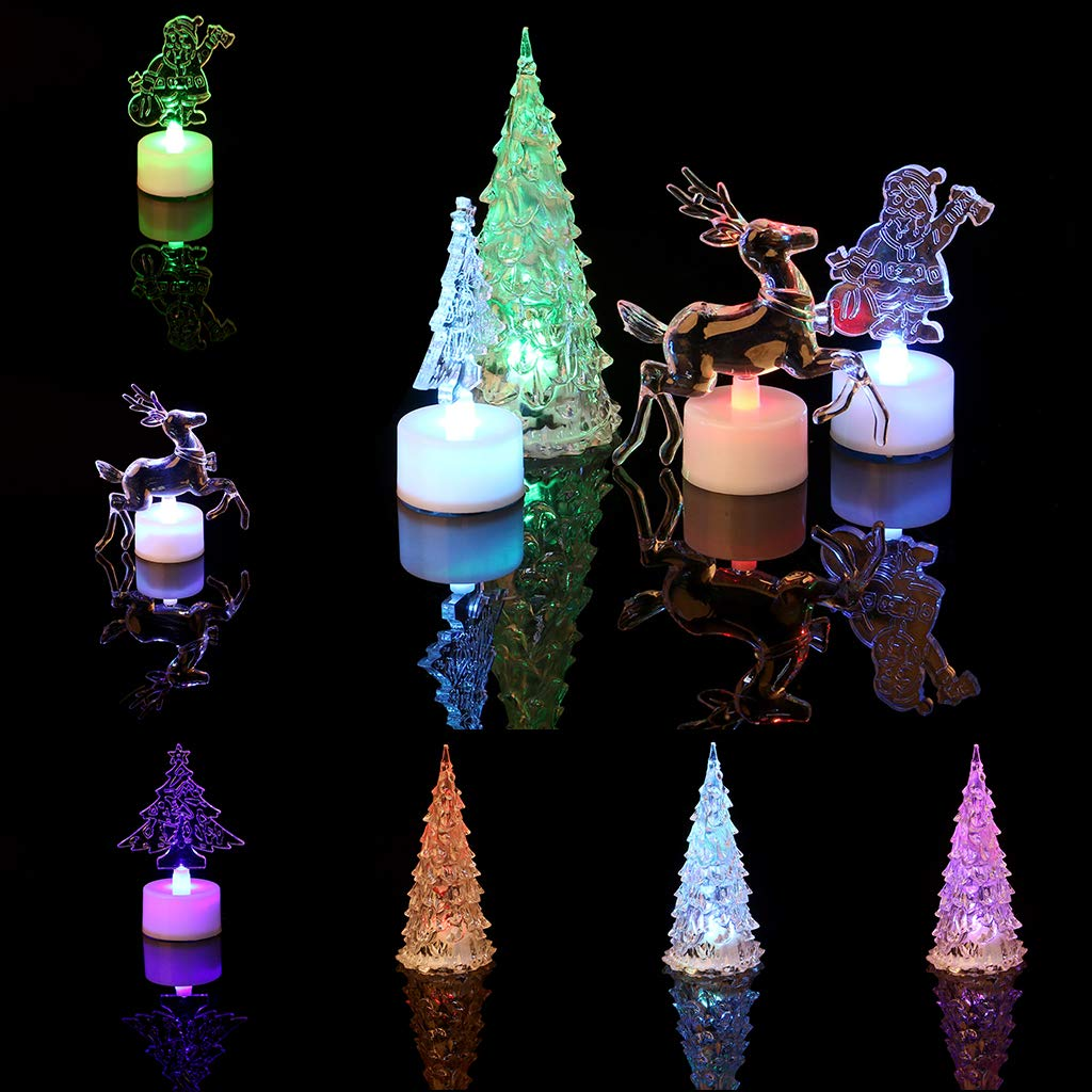 Hijing Christmas Tree LED Night Light,Changing Color for Decorative Wall Lamp Home Christmas Party Decor by Hijing (Image #6)