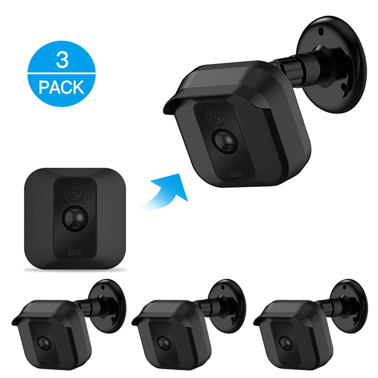 Blink XT XT2 Camera Wall Mount Bracket ,Weather Proof 360 Degree Protective  Adjustable Indoor/Outdoor Mount and Cover for Blink XT XT2 Home Security