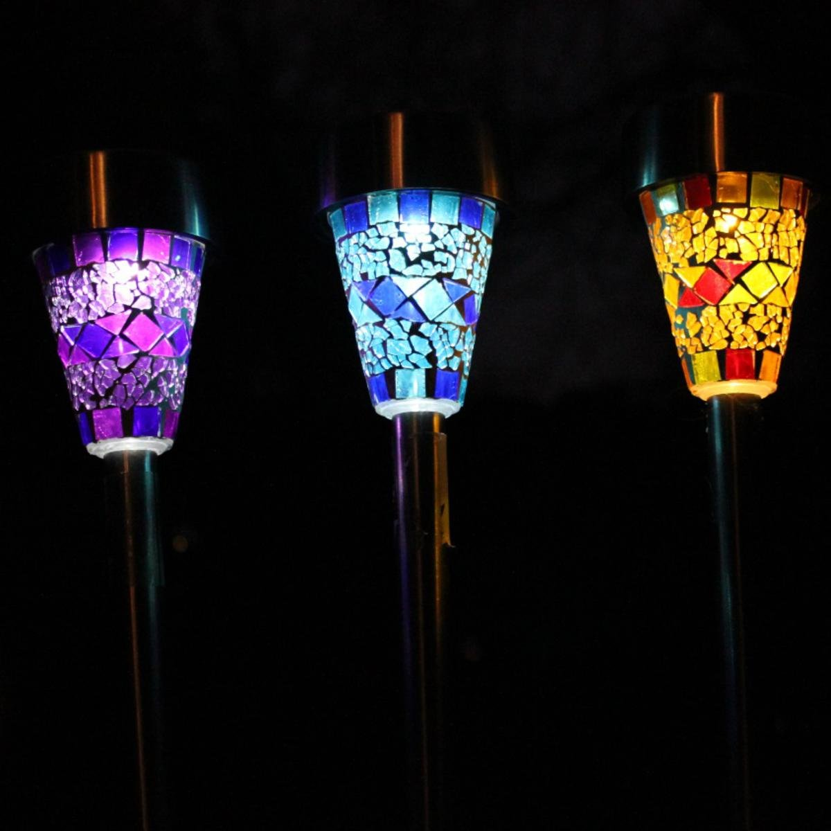 Direct Global Solar Mosaic Lights for the Garden with Plugs Pack