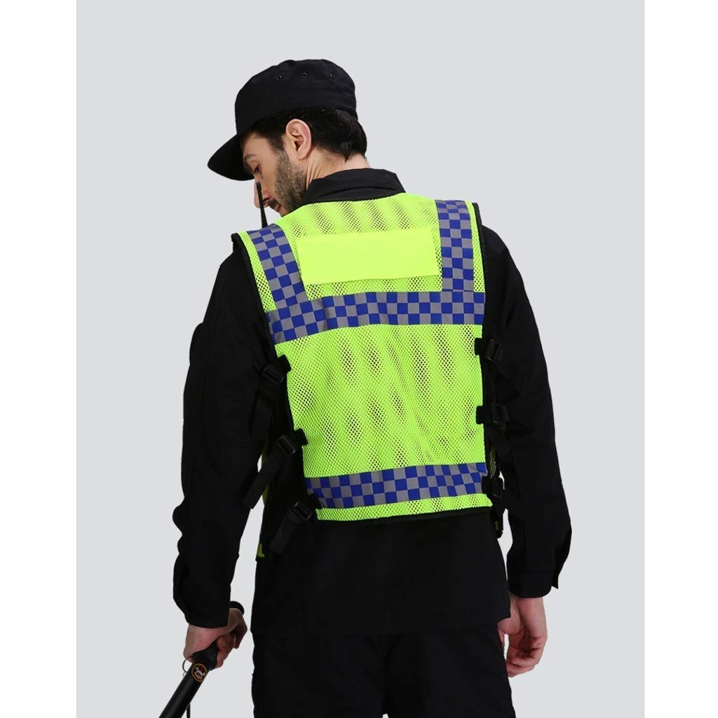 LHJ-fashion Executive Hi Viz Vest Yellow Vest Application Engineering Safety Non-slip Vest Fluorescent Jacket BreathableHigh Visibility Reflective Vests