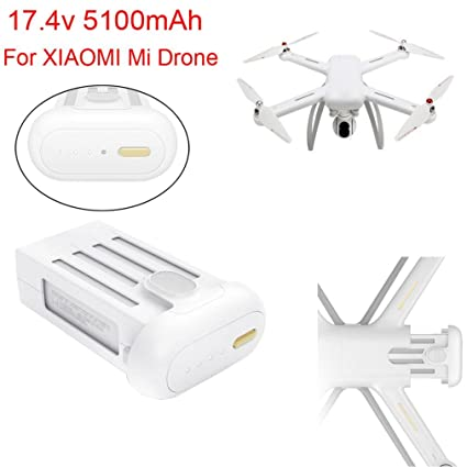 Inverlee 17.4V Max 5100mAh Battery For XIAOMI Mi Drone 4K Wifi FPV Quadcopter (White