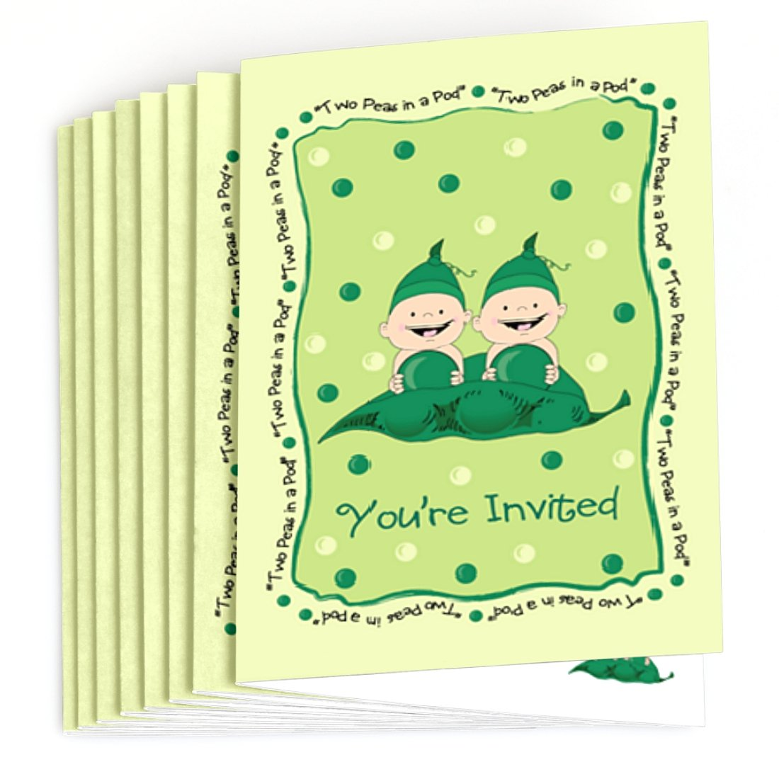 Amazon.com: Twins Two Peas in a Pod - Fill In Baby Shower or ...